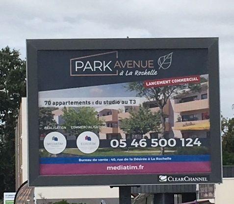 PARK AVENUE s'affiche à LA ROCHELLE