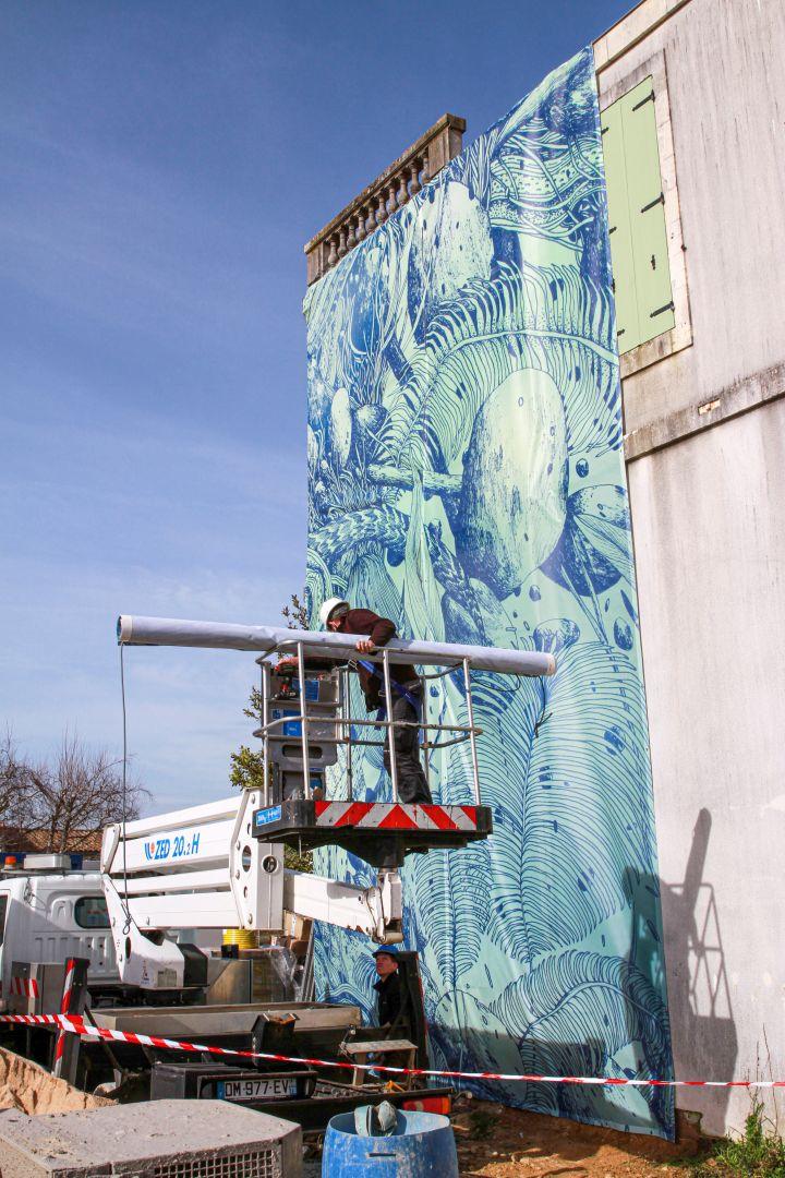 L'ORANGERIE Street-Art TELLAS mediatim promotion - groupe_eurotim LA ROCHELLE promotion immobilière neuf